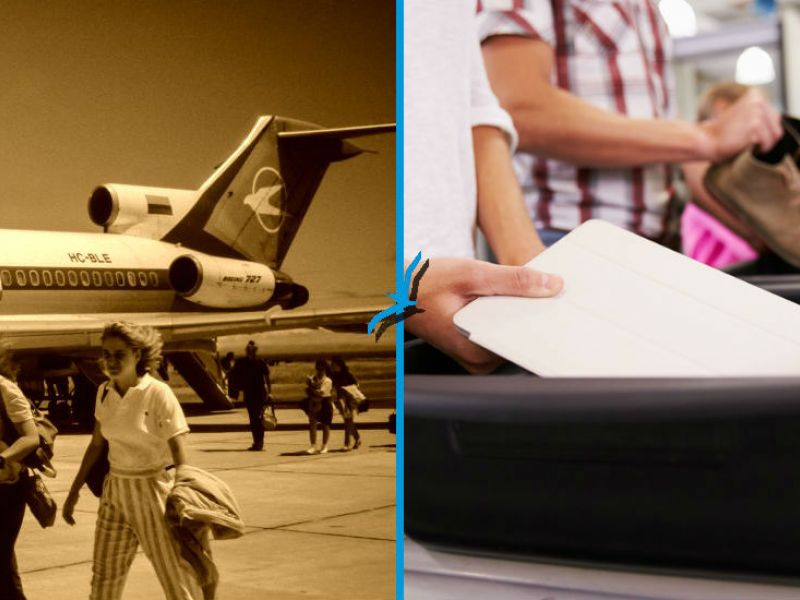 Airport Security Then and Now