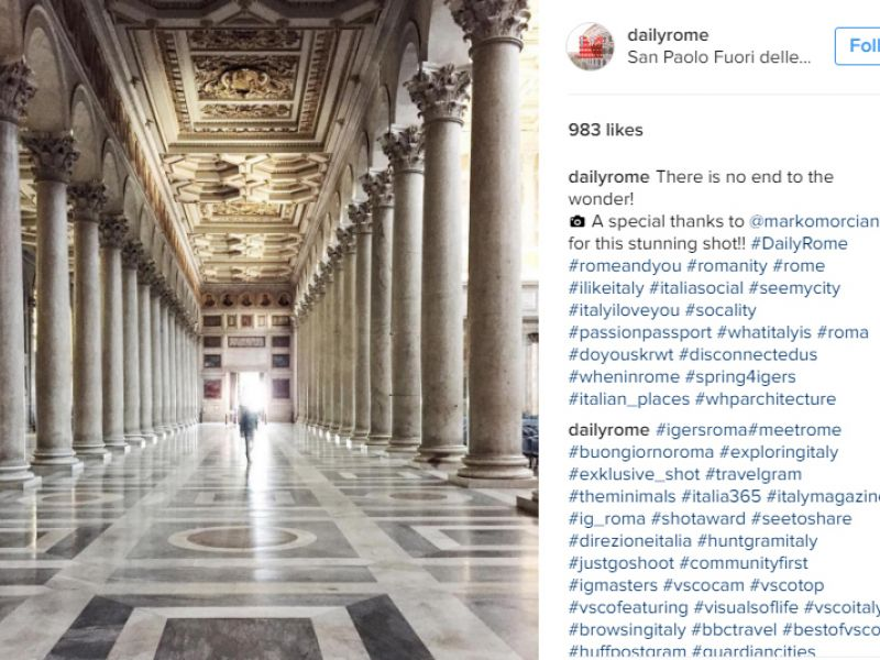 Daily Rome - Instagram Post