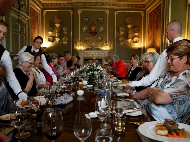 Dining in Leeds Castle, courtesy of Steven Bovery-Spencer