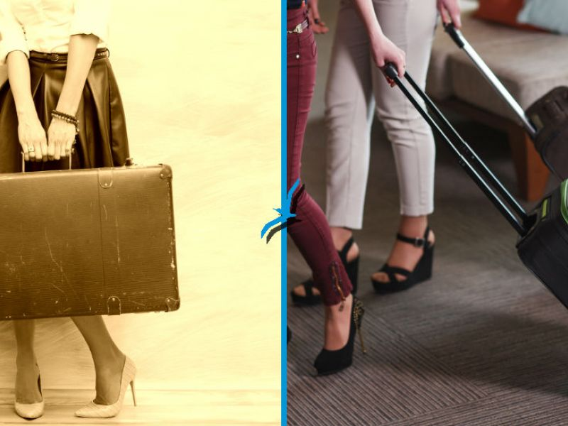 Luggage, then and now