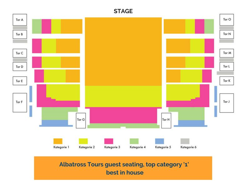 Albatross Tours - Oberammergau Seating  Plan - Category 1A