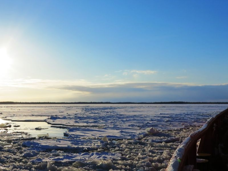 Travel on an Ice Breaker and float in the Baltic Sea