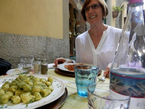 Pasta in Lucca, Italy, coutesy of Albatross traveller S. Blee