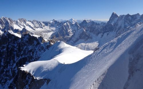 Aiguille du Midi in Chamonix, courtesy of Linda Lonick