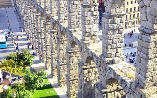 Famous Roman Aquaduct, Segovia, Spain, courtesy of Megan Avery