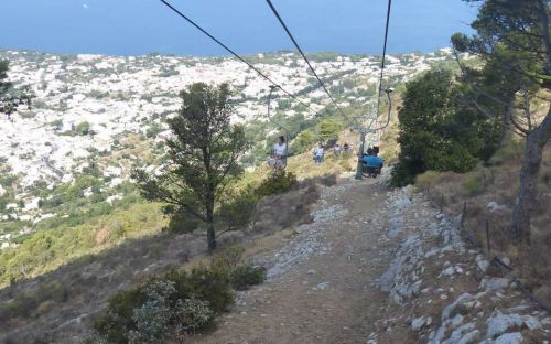 On the chairlift at Anacapri, Italy - Margot Rodrom-Robertson