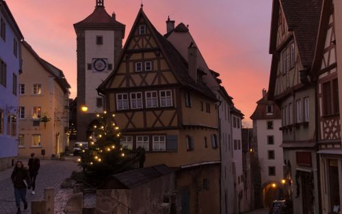 Rothenburg Village Sunrise, Germany, Joan Truskett