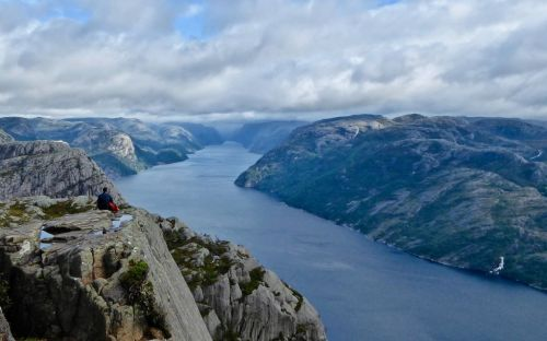 View from Pulpit Rock, Norway - courtesy of Marilyn Cataldo