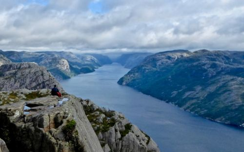 View from Pulpit Rock Norway, courtesy of Marilyn Cataldo