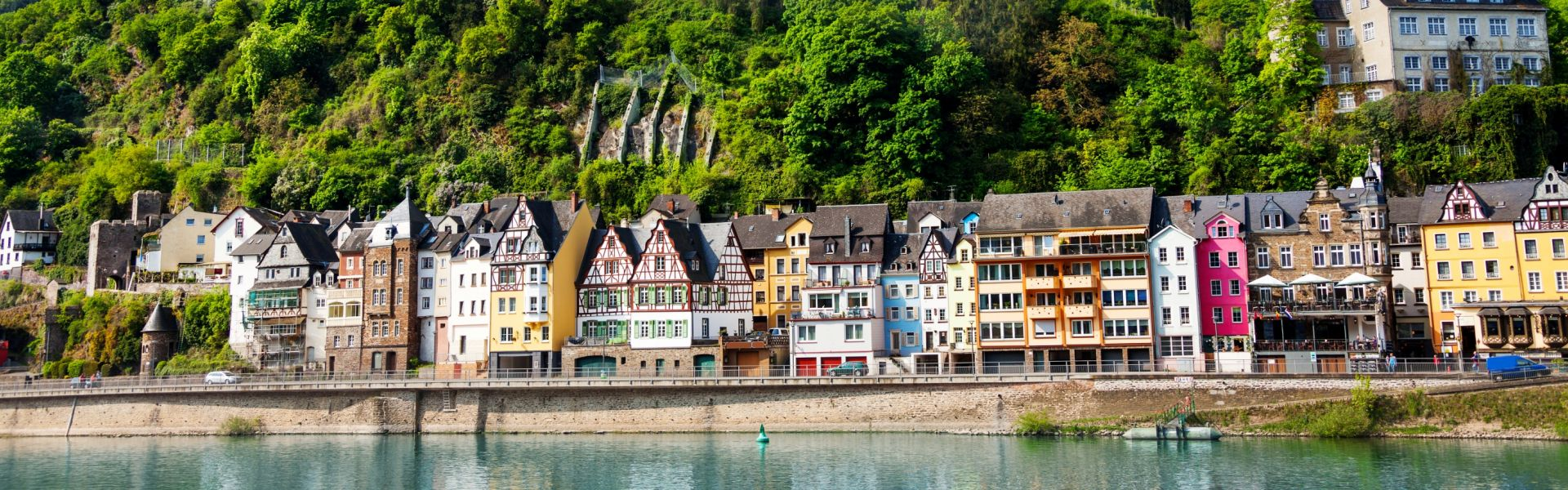 Cochem, on the bank of the Moselle River, Germany