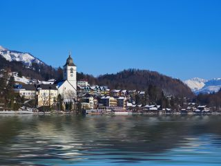 Village St Wolfgang on the Lake, Austria