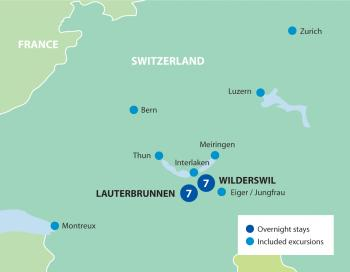 Swiss Christmas Break Tour Map