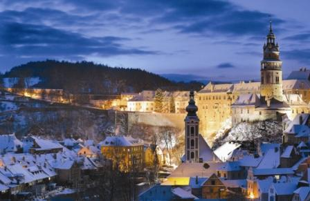 Cesky Krumlov in the Winter