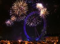 New Year Eve Fireworks, London